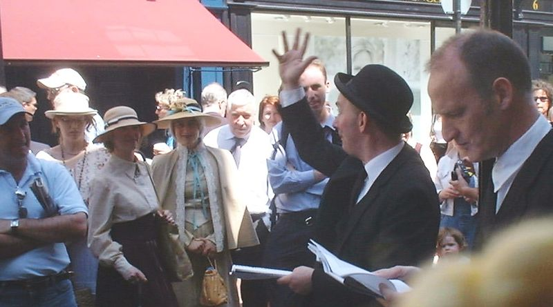 Bloomsday performers outside Davy Byrnes pub