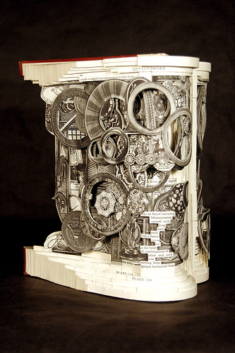 Brian Dettmer single book sculpture