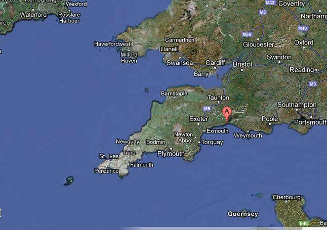 Lyme Regis Map
