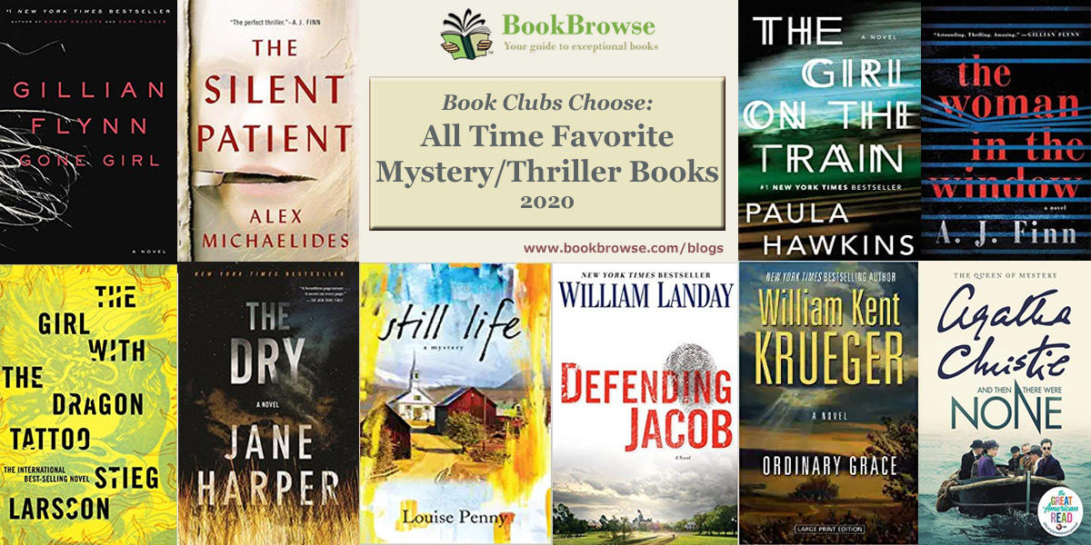 Top 10 All-Time Favorite Mysteries and Thrillers for Book Clubs
