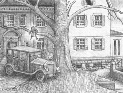 Illustration from Wonderstruck by Brian Selznick, pages 60-61