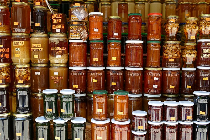 Honey in a Bulgarian Market