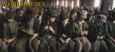 Orphans in Victorian workhouse