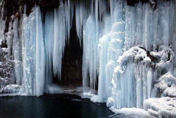 frozen waterfall image