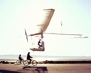 The Gossamer Albatross II at Dryden Flight Research Center in 1980