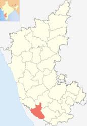 map showing location of Kodagu