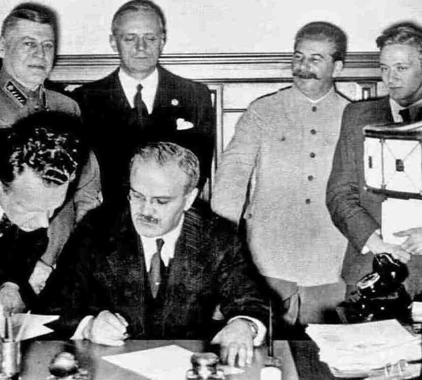 Signing of the Molotov-Ribbentrop Pact