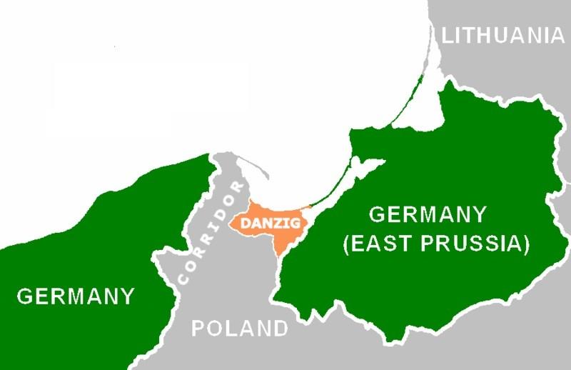 Polish Corridor map
