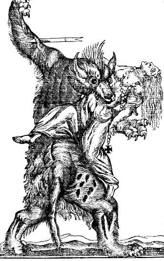 werewolf engraving