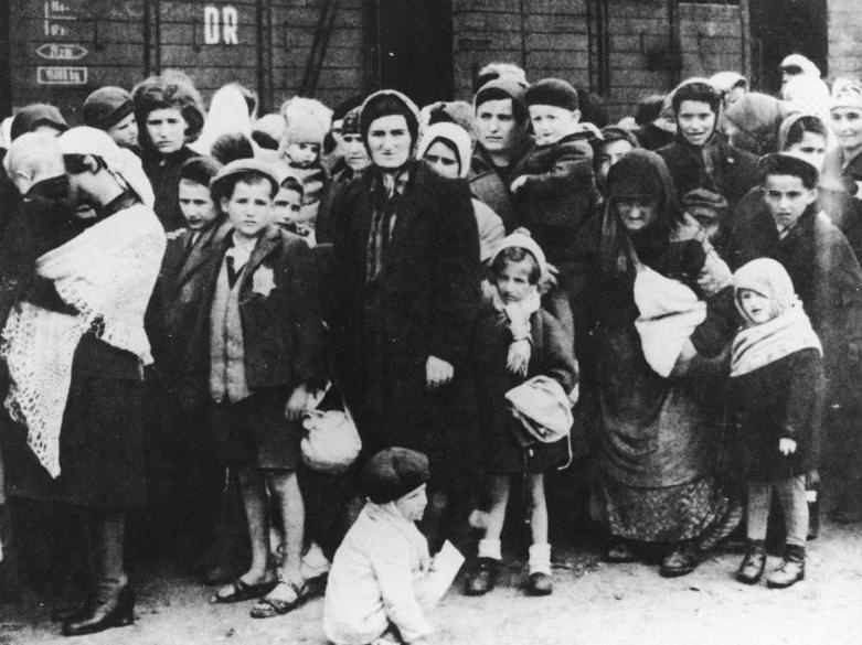 Jewish prisoners at Auschwitz