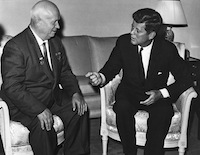 John F. Kennedy and Nikita Khrushchev