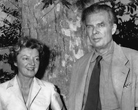 Aldous Huxley and Laura Archera