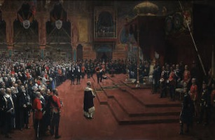 The State Visit of Her Majesty...by Sir John Lavery