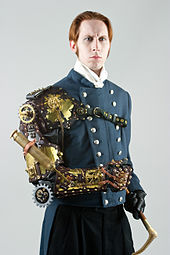 Steampunk-styled arm prosthesis by Thomas Willeford