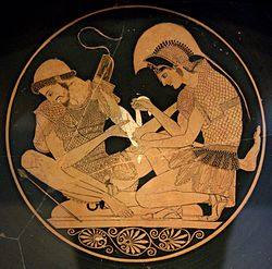 Achilles tending the wounded Patroclus