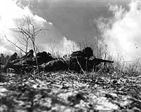 Marines on the firing line near Yudam-ni