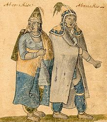 Abenaki couple, 18th century