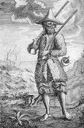 <i>Robinson Crusoe</i>, 1st ed illustration