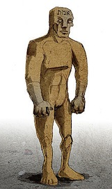 illustration of a golem