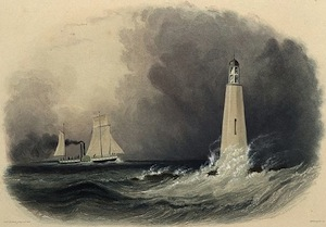Lake Erie Lighthouse near Cleveland, circa 1833
