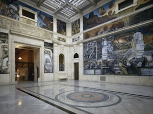 The Rivera Court with the Detroit Industry fresco cycle
