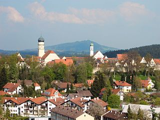 The village of Schongau in Bavaria