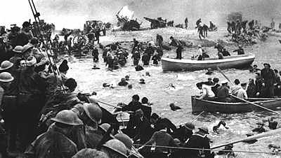 British troops rescued at Dunkirk