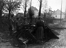 Hungarian troops in a Budapest suburb