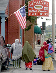 Somali women in Lewiston, Maine