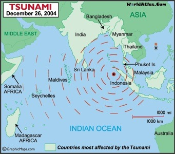 Where the 2004 tsunami hit