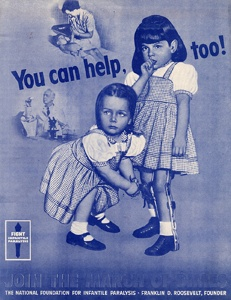 March of Dimes poster about polio