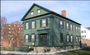 The Lizzie Borden House in New Bedford, Mass.