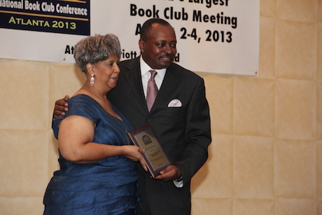 Sharon Lucas receiving award for NBCC essay