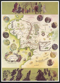 JRR Tolkien's Middle Earth