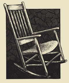 Rocking Chair by artist Suzanne DeJohn