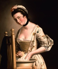 Nineteenth Century Woman Doing Laundry, Henry Robert Morland