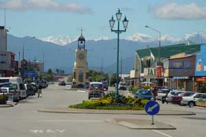 The town of Hokitika