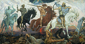 Four Horsemen of the Apocalypse, an 1887 painting by Victor Vasnetsov.