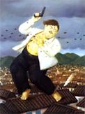 Artist Fernando Botero's painting of Pablo Escobar's death