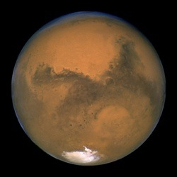 Picture of Mars as taken by Hubble Space Telescope