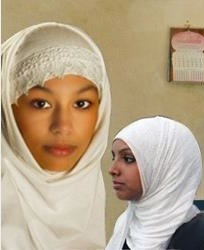 Two popular ways to way the hijab: Al-Amira and the Shayla