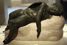 Bronze statue of Eros