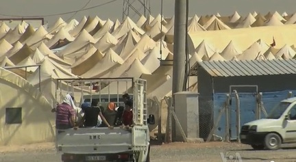 Syrian Refugee Center near the Turkish Border