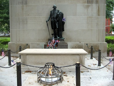 Photograph of the Tomb of the Unknown Revolutionary War Soldier in Philadelphia
