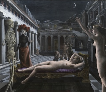 Paul Delvaux's Sleeping Venus