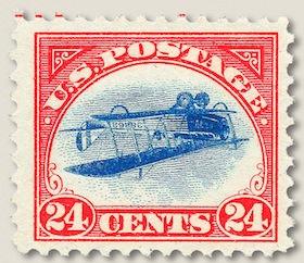 Upsidedown Jenny Stamp
