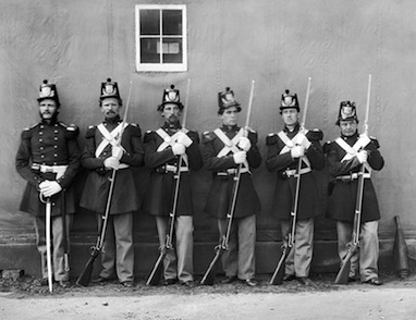 Five Marines and their NCO, 1864