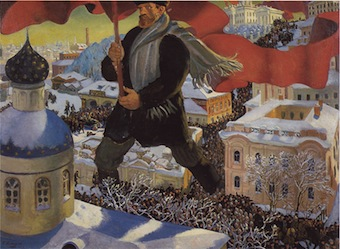 October Revolution by Boris Kustodiev