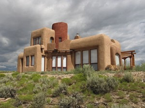 off-the-grid adobe house