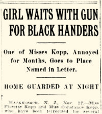 Newspaper clipping about Kopp sisters